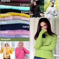Sweater Rajut Wanita Roundhand oneck premium warna Tosca Tua