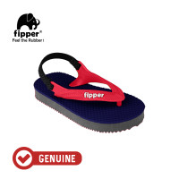 Fipper Todd's / Sandal Jepit Anak / Navy / grey / Red Ruby