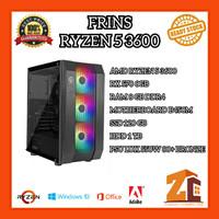 Pc Gaming/Editing Amd Ryzen 5 3600 RX 570 8GB 8GB 120GB 1TB