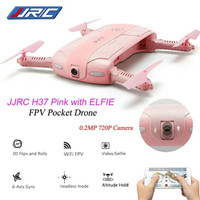 JJRC H37 pink love elfie drone 2MP 720P/selfie pocket drone fotografi