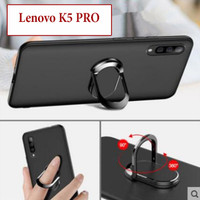 Lenovo K5 Pro Softcase Soft Case Casing Silicone With Ring Matte Doff