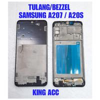 FRAME DUDUKAN TULANG TENGAH LCD SAMSUNG GALAXY A20S A207 A207F ORI