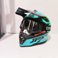 Helm Anak JPX Cross Kids Fox 1 Tosca plus Goggle Osbe NS