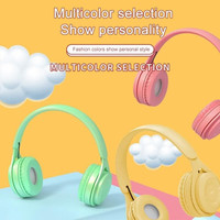 Headphone Extra Bass Wireless Y08 Macaron Bluetooth Headphone