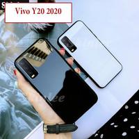 Vivo Y20 2020 Hard Soft Case Casing Back Mirror Kaca Glass Kesing