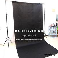 Background spunbond hitam backdropfoto Ukuran 1.6m x 3m Impodio-PERMTR