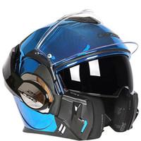 LS2 FF399 VALIANT SINGLE MONO CHROME BLUE | HELM FULL FACE | MODULAR