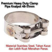 premium clamp pipa knalpot racing stainless steel 48-51mm pipa slip on
