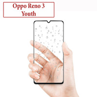 Oppo Reno 3 Youth Anti Gores Kaca Tempered Glass Full Lem Protector