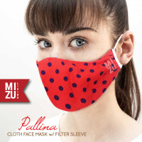 PALLINA Cloth Face Mask Masker Kain Corak Dots 3 Ply Sarung Filter