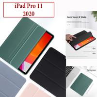 iPad Pro 11 2020 Flip Leather Case Smart Cover Kulit Casing USAMS Ori