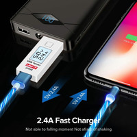 Magnetic LED Fast Charger Cable USB 2.4 CHARGER FOR iPhone Lightning