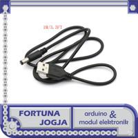 Kabel Konverter USB DC 5V to DC Jack 5.5mm x 2.5mm Panjang 1m