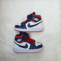 Sepatu Anak Nike Jordan High White Red Midnight Navy Grade Original