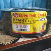 kabel NYYHY 3x1.5 3x1,5 SUPREME kabel serabut hitam SNI PER METER