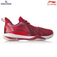 New Sepatu Badminton Lining Storm II AYZQ003-3 Dark Red / Frame Red