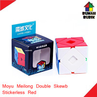 Jual Rubik Double Skewb Moyu Meilong Stickerless Red / MEIDBSKSR