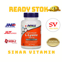 Now Foods L-Lysine 1000mg isi 100 tablets Now Foods