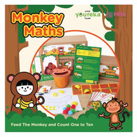Monkey Maths Kids Activity Box - Feed The Monkey and Count One to Ten!