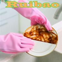 Silicone Dishwashing Gloves Magic glove Sarung tangan cuci piring AAA