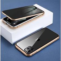 iPhone X XS Magnetic Spy Glass Premium Case KACA DEPAN BELAKANG 2in1