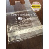 Kantong plastik BENING ukuran 24cm - 250Gr/pack isi 30pcs -