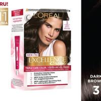 L'Oreal Paris Excellence Creme Hair Color / Cat Rambut #3 - Dark Brown