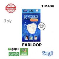 Masker Sensi 3D Earloop isi 1 pcs