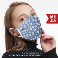 CLASSICA Cloth Face Mask Masker Kain Corak Bunga 3 Ply Sarung Filter
