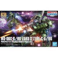 Gundam HG Zaku 2 II Origin C6 MS-06C-6 Bandai 1/144 1:144