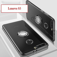Lenovo S5 Soft Case Casing Cover Plating Clear Bening With Ring Kesing
