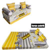 Sofa Bed Kasur Lipat Busa YELLOW Super