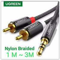 Ugreen Kabel Audio Jack 3.5mm to 2 RCA Braided Splitter Y Stereo Hifi
