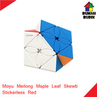 Rubik Maple Leaf Skewb Moyu Meilong Stickerless Red / MEIMLSKSR