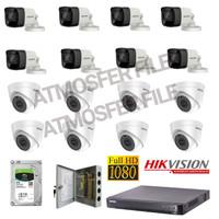 Paket cctv HIKVISION 16CH 2MP FULL HD 1080P HARDISK 4TB LENGKAP