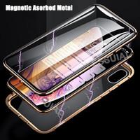 Note 10+ Samsung Premium Magnetic Full 360 Cover Depan Belakang Glass