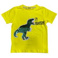 Dino Boy T-Shirt with Sequin - MOEJOE / Kaos Anak Laki-Laki