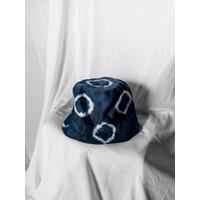 Polkadot Shibori Bucket Hat (Bucket hat tie dye, Bucket hat shibori)
