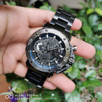 Alexandre Christie AC Collection 9205 Black Jam Tangan Pria Original