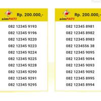 Nomor Cantik Simpati seri Urut 12345 082 12345 8290 SL5