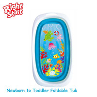 Right Start Folding Bath Tub baby / bak mandi lipat bayi - BLUE AQUARIUM