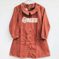 Baju Tunik Anak Perempuan Lengan Panjang Bahan Semi Kedorai 6-13 Tahun