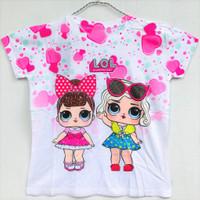 Baju Atasan Anak Perempuan Lengan Pendek LOL Surprise 7-10 Th