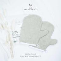 Little Palmerhaus - Premium Bam & Boo Wash Mitt GREY OLIVE
