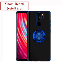 Xiaomi Redmi Note 8 Pro Soft Case Casing Cover Plating Clear i Ring