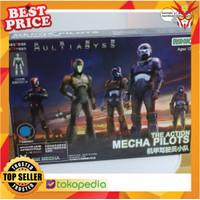 Pilot Rihio Multiabyss The Action Mecha Pilot Blue Mokit isi 15pcs