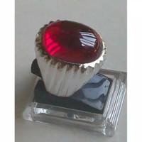 Cincin Pria Perak 925 Batu Merah Delima (Siam) 9 Mohs Cp-ms18-s - 789s