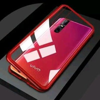 """iPhone X XS 5.8"""" Case Magnetic Glass 2in1 Cover Belakang Full Tempered"""
