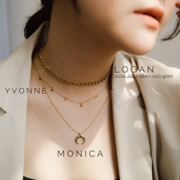 Dear Me - YVONNE Choker Necklace (925 Silver with 18k Gold Plating)