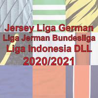 Jersey Liga German Liga Jerman Bundesliga Liga Indonesia DLL Jersey GO - 59.500, S